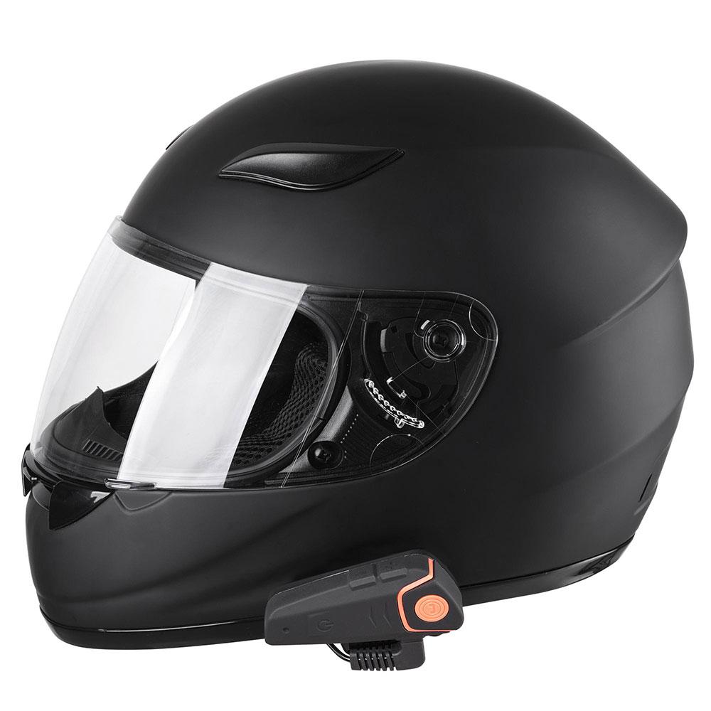DOT-Motorcycle-Full-Face-Adult-Helmet-Size-M-XL-w-Bluetooth-Wireless-Headset thumbnail 53