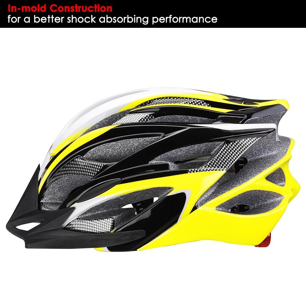 Bicycle-Helmet-Bike-Cycling-Adult-Adjustable-Safety-Helmet-Visor-LED-Light-Sport thumbnail 49
