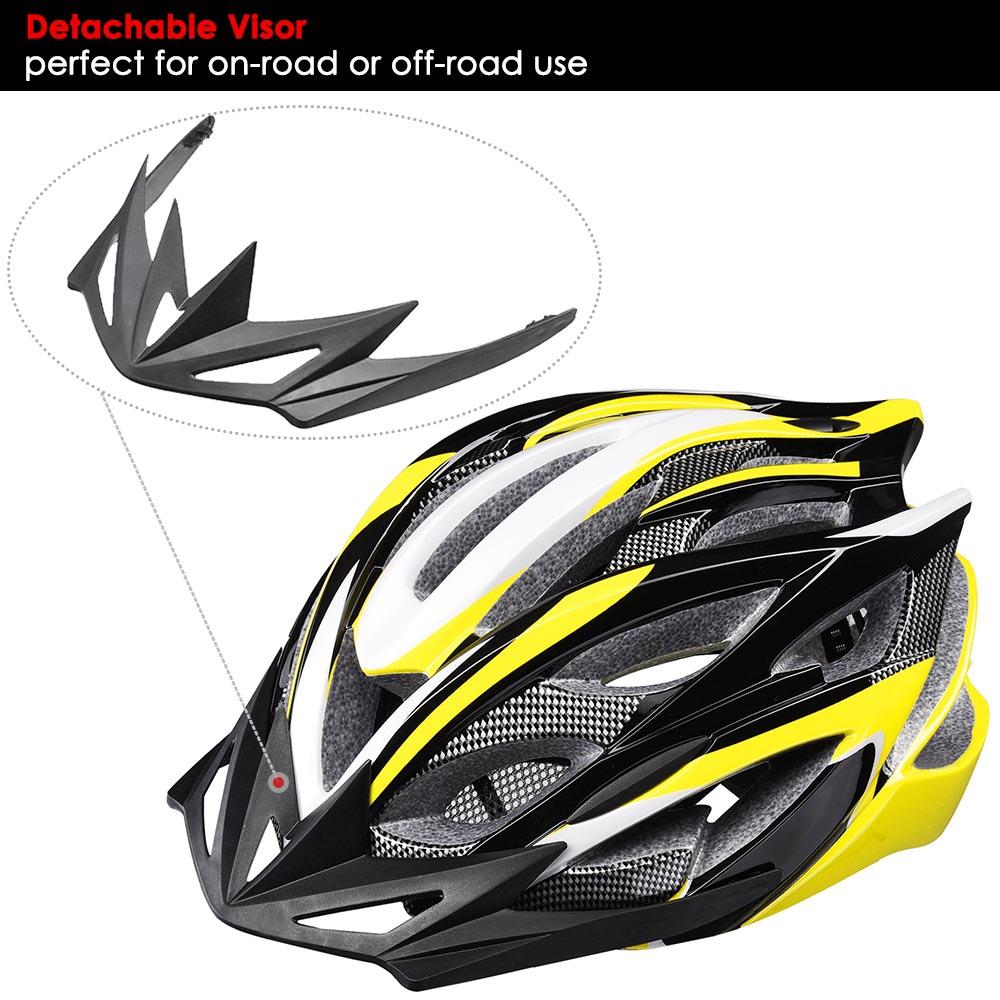 Bicycle-Helmet-Bike-Cycling-Adult-Adjustable-Safety-Helmet-Visor-LED-Light-Sport thumbnail 50