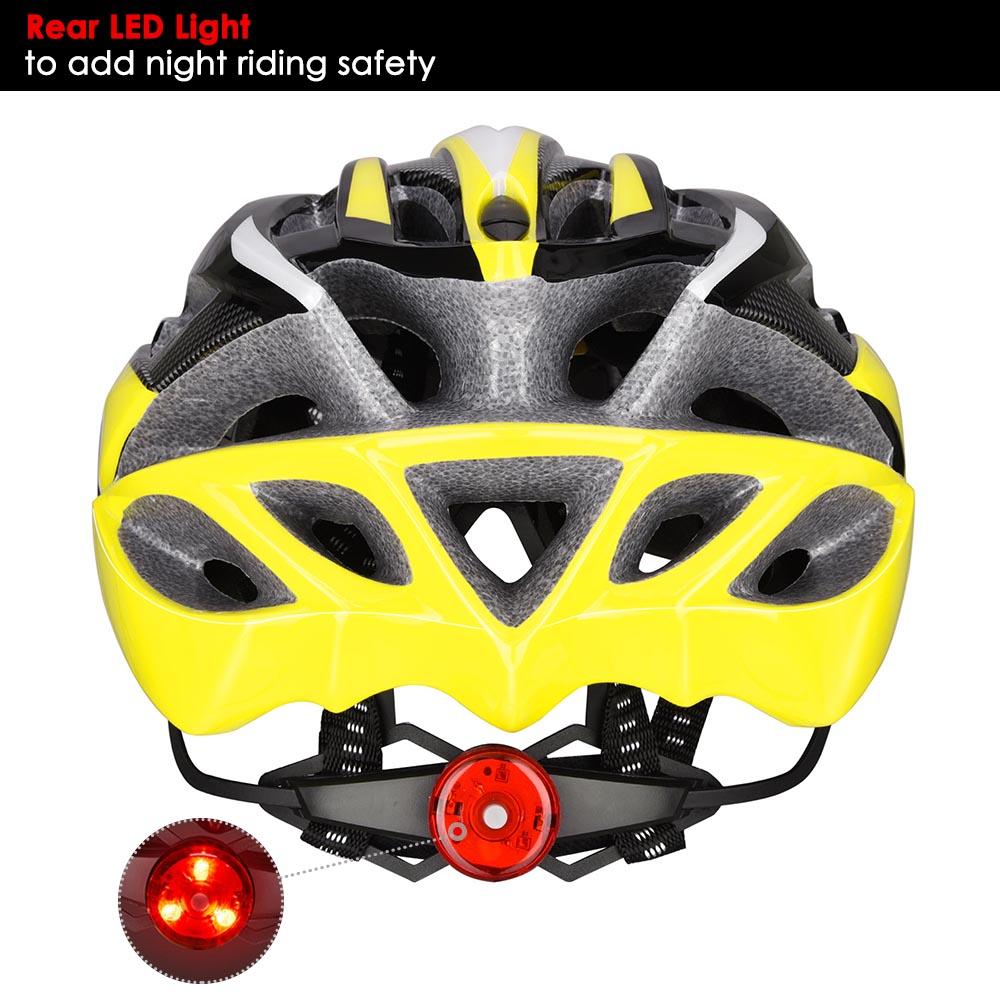 Bicycle-Helmet-Bike-Cycling-Adult-Adjustable-Safety-Helmet-Visor-LED-Light-Sport thumbnail 51