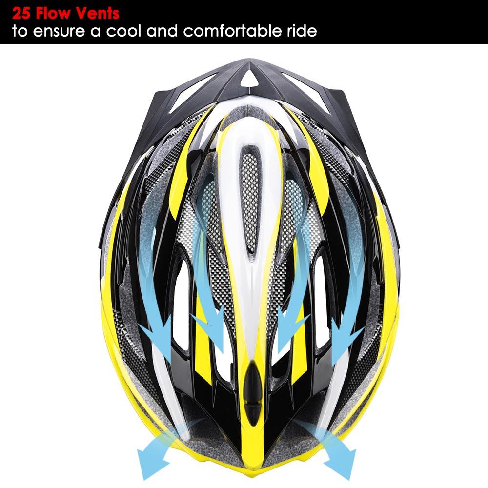 Bicycle-Helmet-Bike-Cycling-Adult-Adjustable-Safety-Helmet-Visor-LED-Light-Sport thumbnail 54