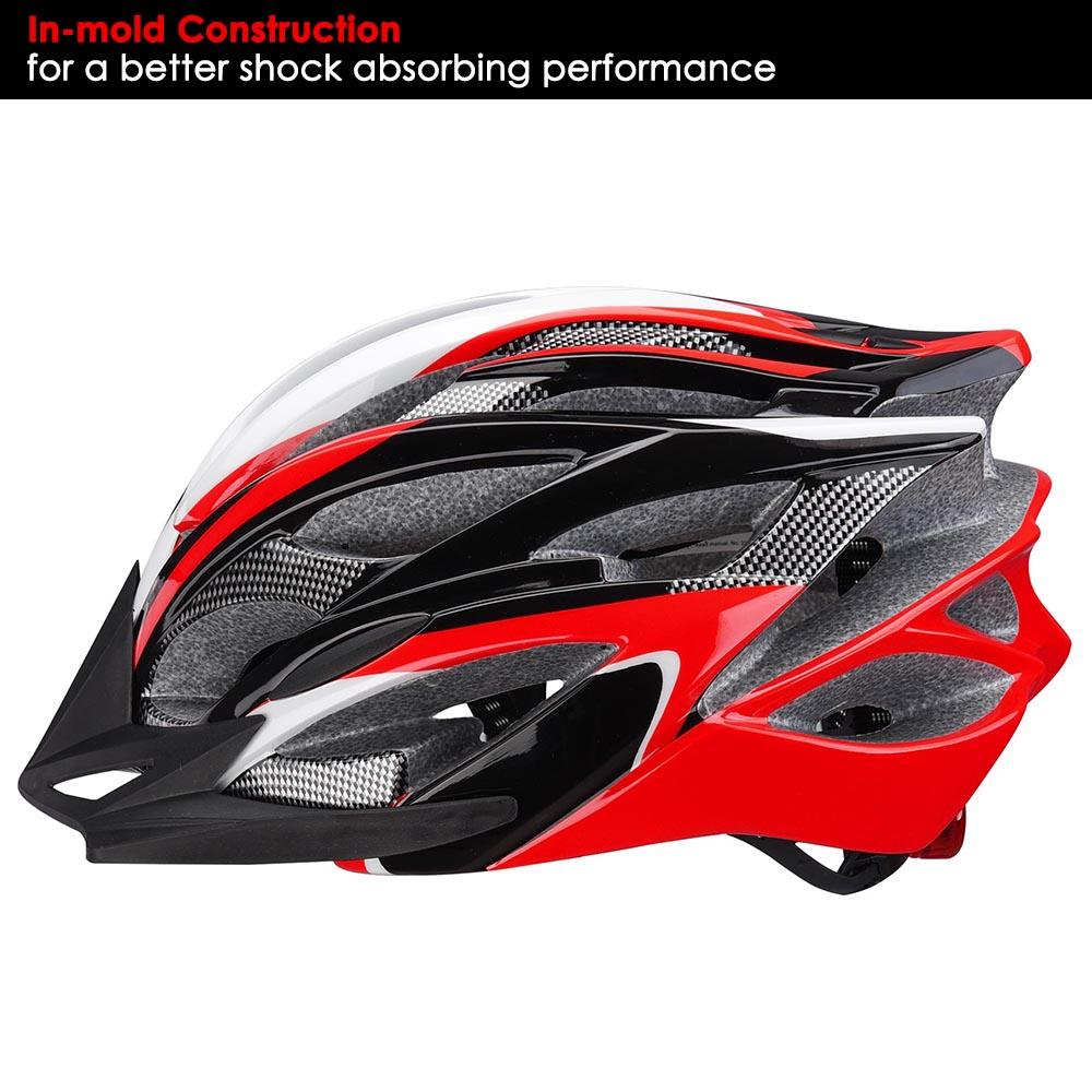 Bicycle-Helmet-Bike-Cycling-Adult-Adjustable-Safety-Helmet-Visor-LED-Light-Sport thumbnail 40