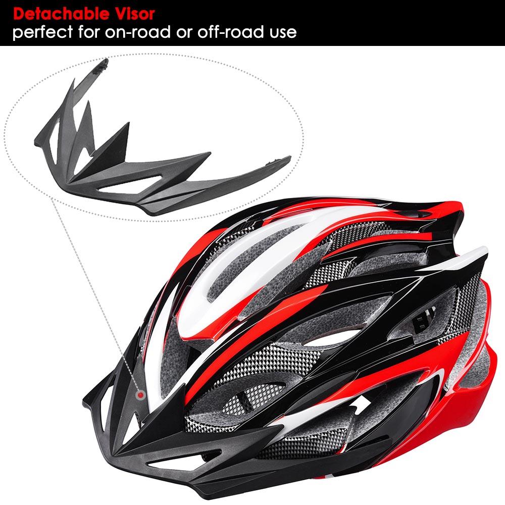 Bicycle-Helmet-Bike-Cycling-Adult-Adjustable-Safety-Helmet-Visor-LED-Light-Sport thumbnail 41