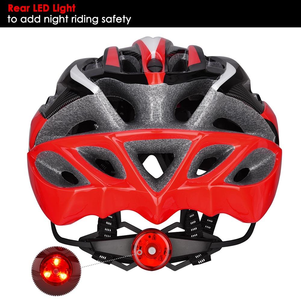 Bicycle-Helmet-Bike-Cycling-Adult-Adjustable-Safety-Helmet-Visor-LED-Light-Sport thumbnail 42
