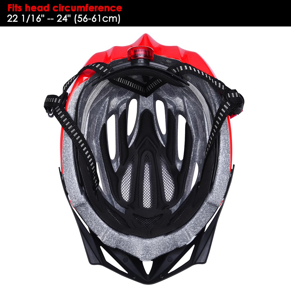 Bicycle-Helmet-Bike-Cycling-Adult-Adjustable-Safety-Helmet-Visor-LED-Light-Sport thumbnail 44