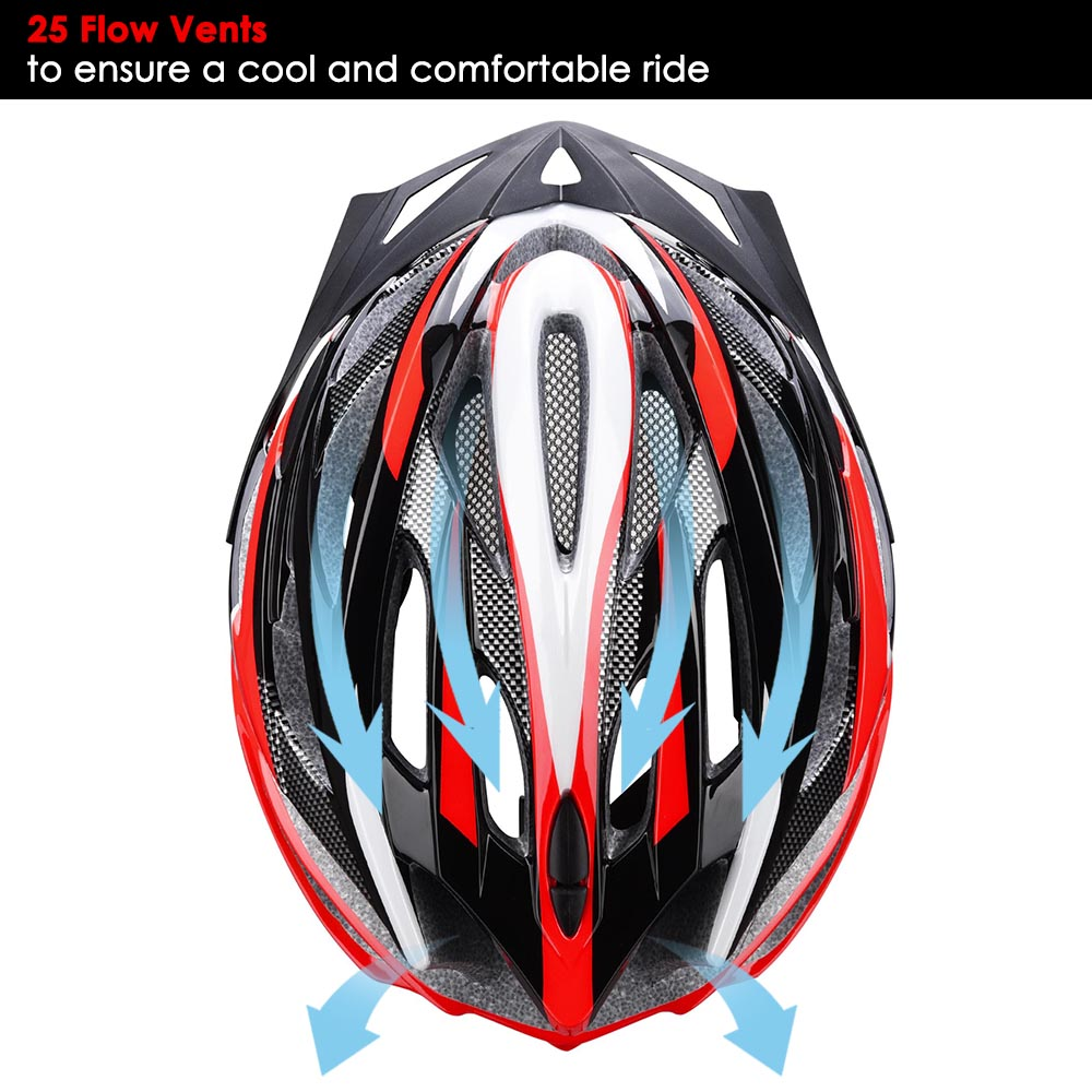 Bicycle-Helmet-Bike-Cycling-Adult-Adjustable-Safety-Helmet-Visor-LED-Light-Sport thumbnail 45