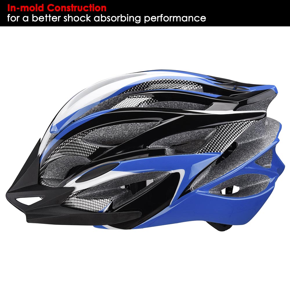 Bicycle-Helmet-Bike-Cycling-Adult-Adjustable-Safety-Helmet-Visor-LED-Light-Sport thumbnail 13