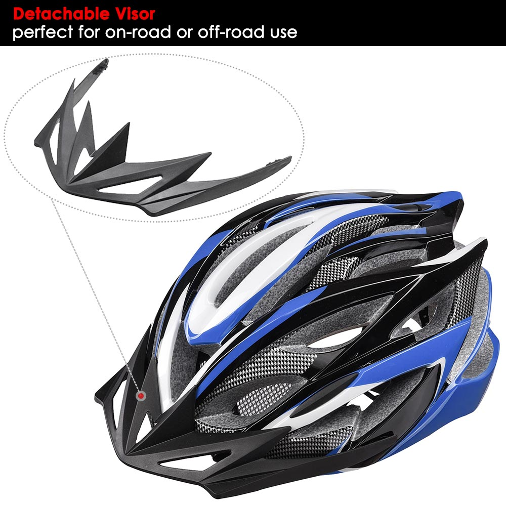 Bicycle-Helmet-Bike-Cycling-Adult-Adjustable-Safety-Helmet-Visor-LED-Light-Sport thumbnail 14