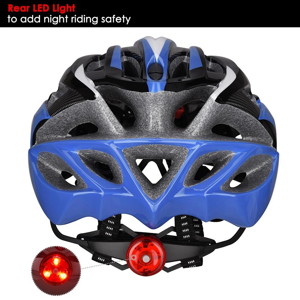 Bicycle-Helmet-Bike-Cycling-Adult-Adjustable-Safety-Helmet-Visor-LED-Light-Sport thumbnail 15