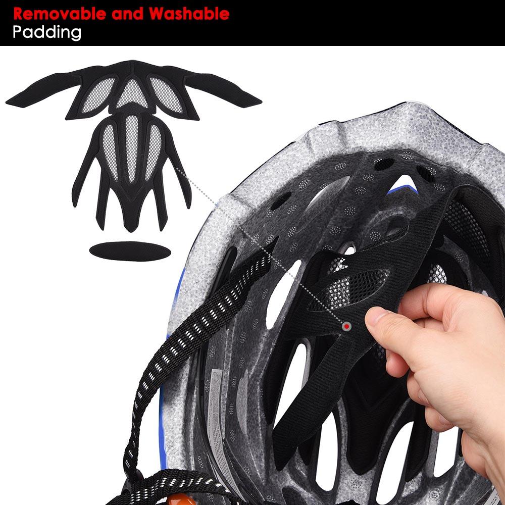 Bicycle-Helmet-Bike-Cycling-Adult-Adjustable-Safety-Helmet-Visor-LED-Light-Sport thumbnail 16
