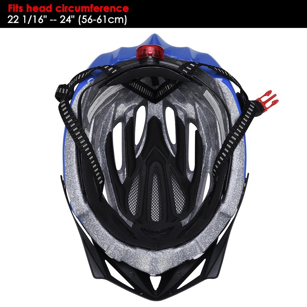 Bicycle-Helmet-Bike-Cycling-Adult-Adjustable-Safety-Helmet-Visor-LED-Light-Sport thumbnail 17