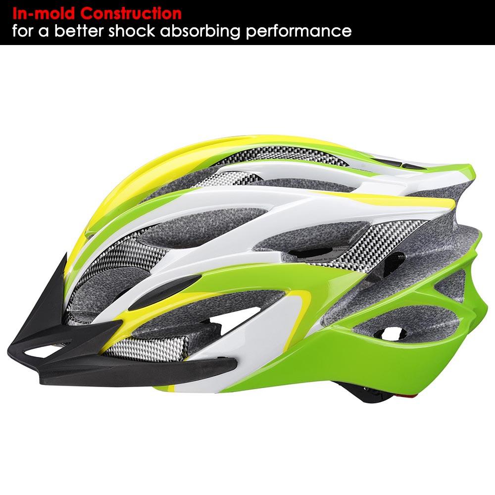 Bicycle-Helmet-Bike-Cycling-Adult-Adjustable-Safety-Helmet-Visor-LED-Light-Sport thumbnail 76