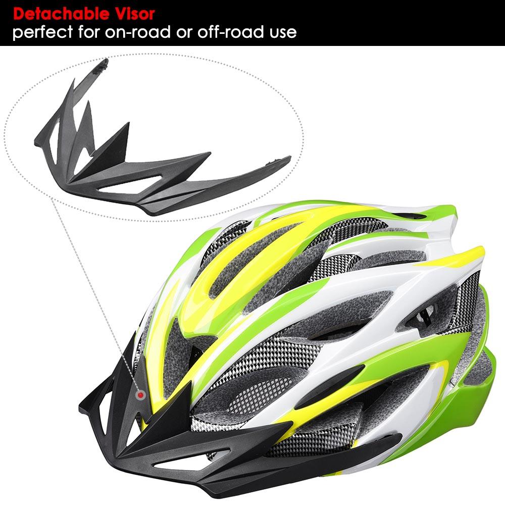 Bicycle-Helmet-Bike-Cycling-Adult-Adjustable-Safety-Helmet-Visor-LED-Light-Sport thumbnail 77