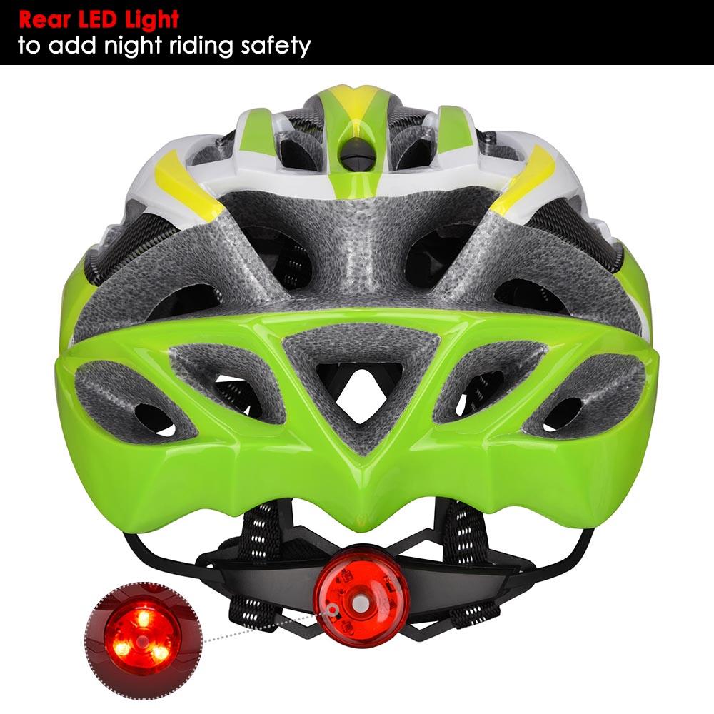 Bicycle-Helmet-Bike-Cycling-Adult-Adjustable-Safety-Helmet-Visor-LED-Light-Sport thumbnail 78