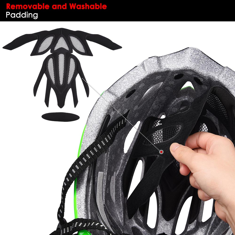 Bicycle-Helmet-Bike-Cycling-Adult-Adjustable-Safety-Helmet-Visor-LED-Light-Sport thumbnail 79