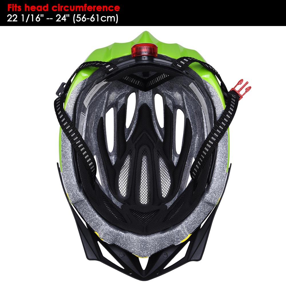 Bicycle-Helmet-Bike-Cycling-Adult-Adjustable-Safety-Helmet-Visor-LED-Light-Sport thumbnail 80