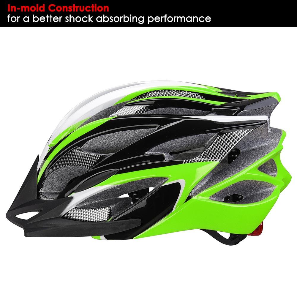 Bicycle-Helmet-Bike-Cycling-Adult-Adjustable-Safety-Helmet-Visor-LED-Light-Sport thumbnail 22