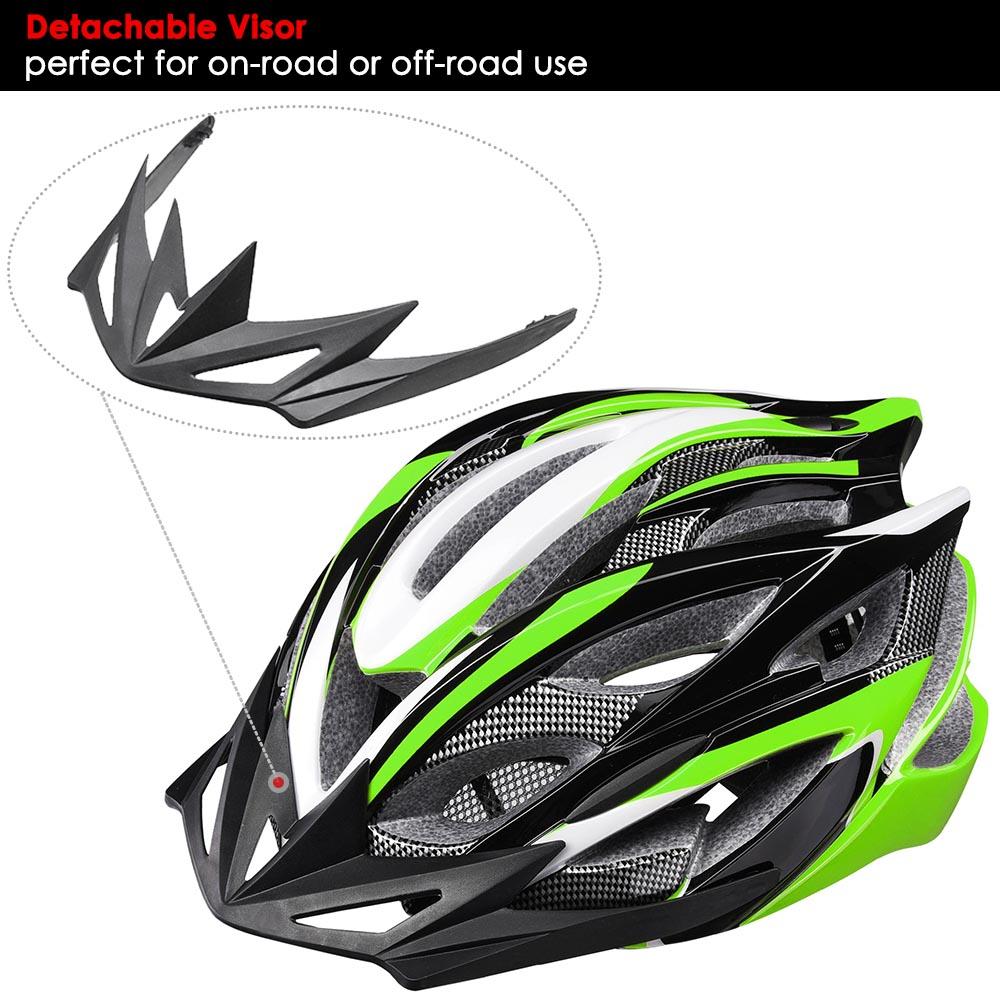 Bicycle-Helmet-Bike-Cycling-Adult-Adjustable-Safety-Helmet-Visor-LED-Light-Sport thumbnail 23