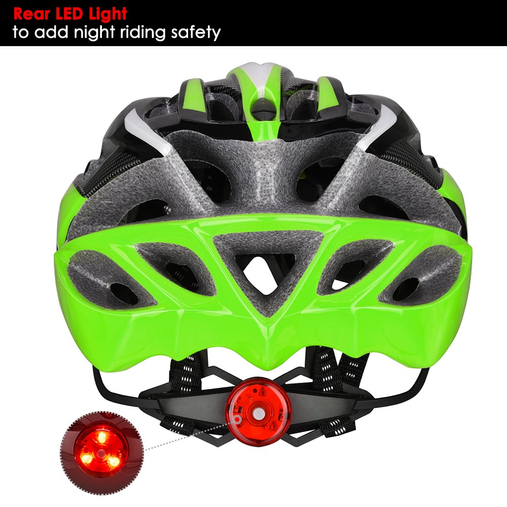 Bicycle-Helmet-Bike-Cycling-Adult-Adjustable-Safety-Helmet-Visor-LED-Light-Sport thumbnail 24