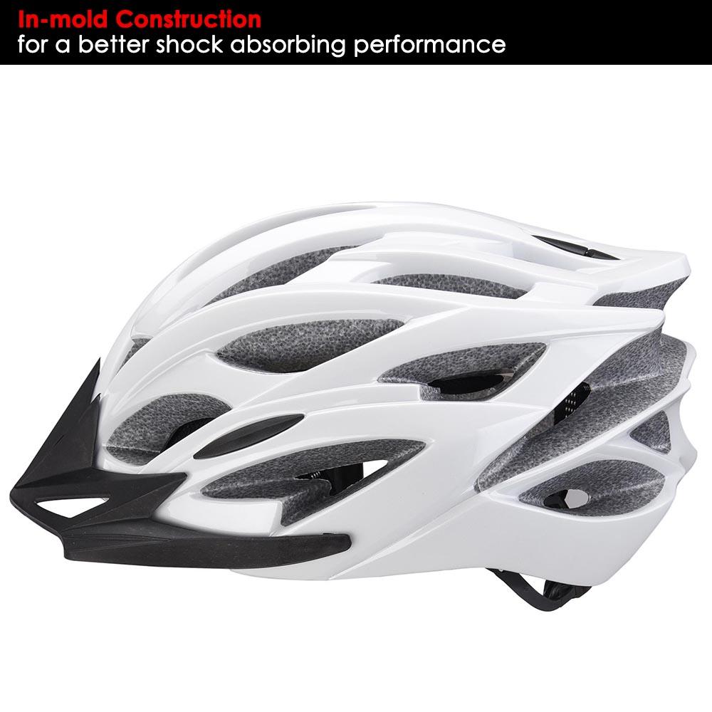Bicycle-Helmet-Bike-Cycling-Adult-Adjustable-Safety-Helmet-Visor-LED-Light-Sport thumbnail 67