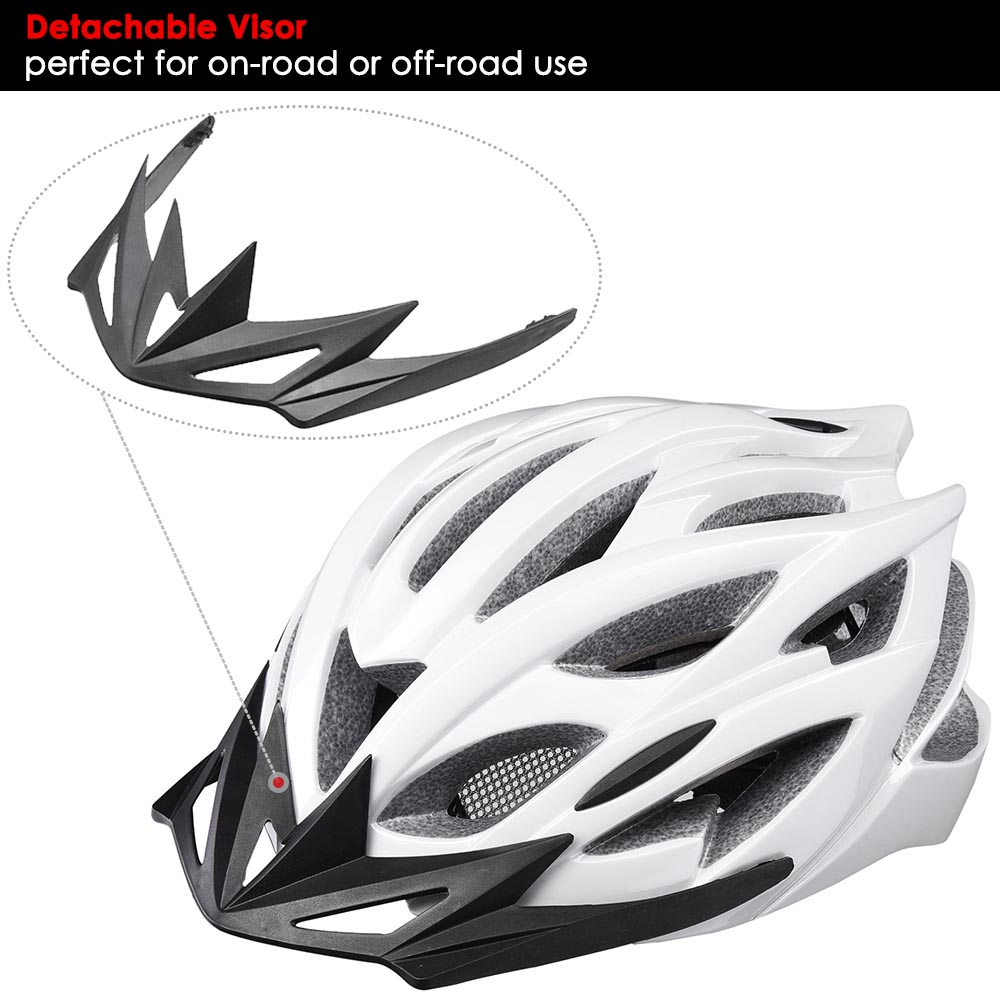 Bicycle-Helmet-Bike-Cycling-Adult-Adjustable-Safety-Helmet-Visor-LED-Light-Sport thumbnail 68