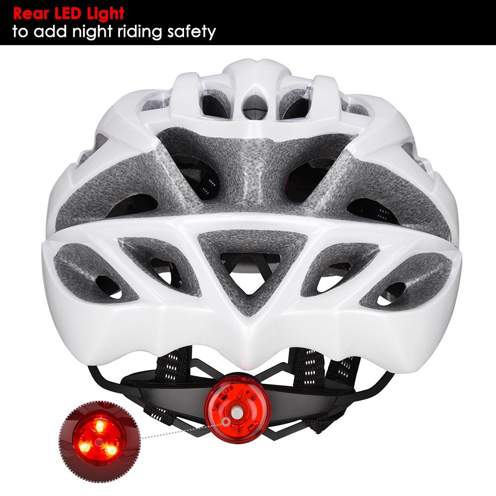Bicycle-Helmet-Bike-Cycling-Adult-Adjustable-Safety-Helmet-Visor-LED-Light-Sport thumbnail 69