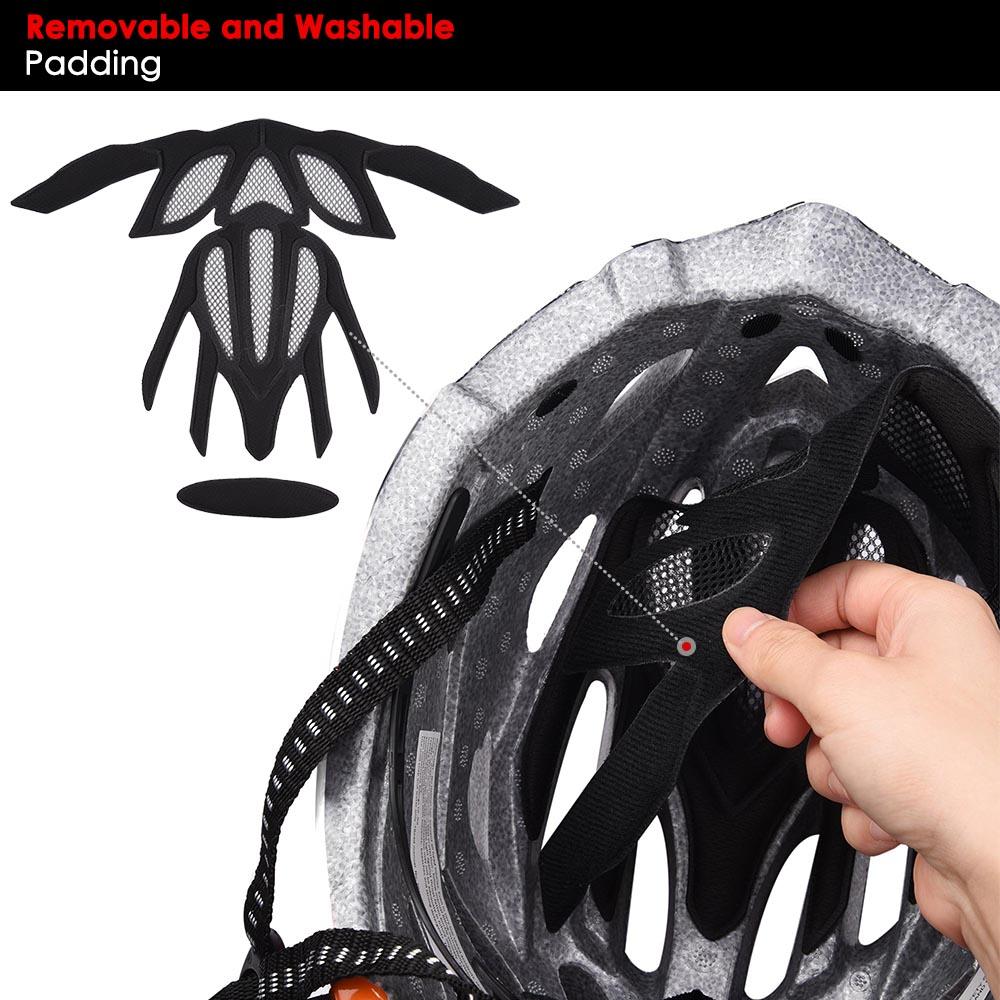 Bicycle-Helmet-Bike-Cycling-Adult-Adjustable-Safety-Helmet-Visor-LED-Light-Sport thumbnail 70