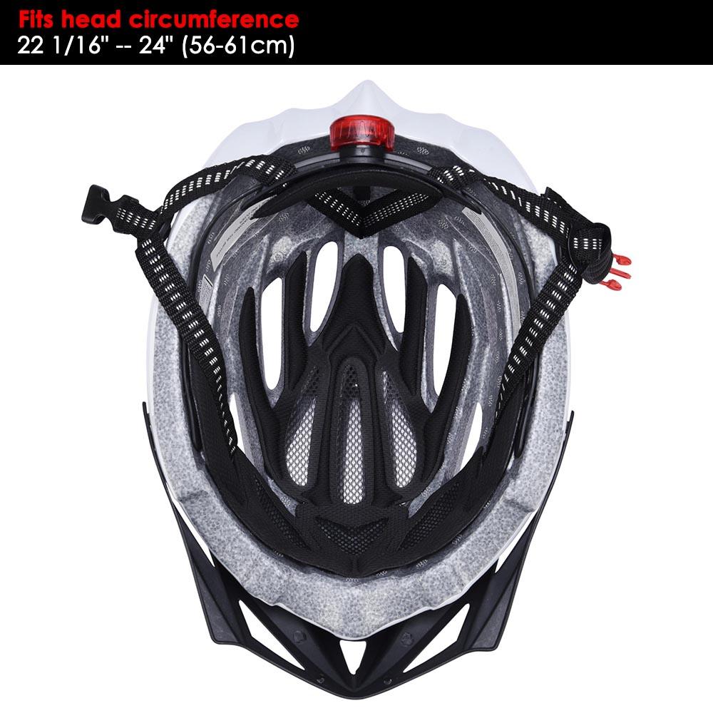 Bicycle-Helmet-Bike-Cycling-Adult-Adjustable-Safety-Helmet-Visor-LED-Light-Sport thumbnail 71