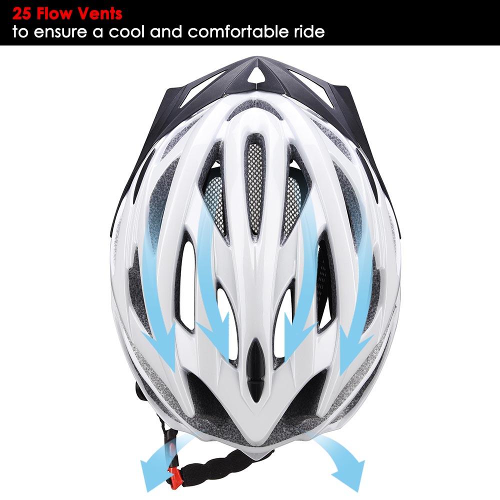 Bicycle-Helmet-Bike-Cycling-Adult-Adjustable-Safety-Helmet-Visor-LED-Light-Sport thumbnail 72
