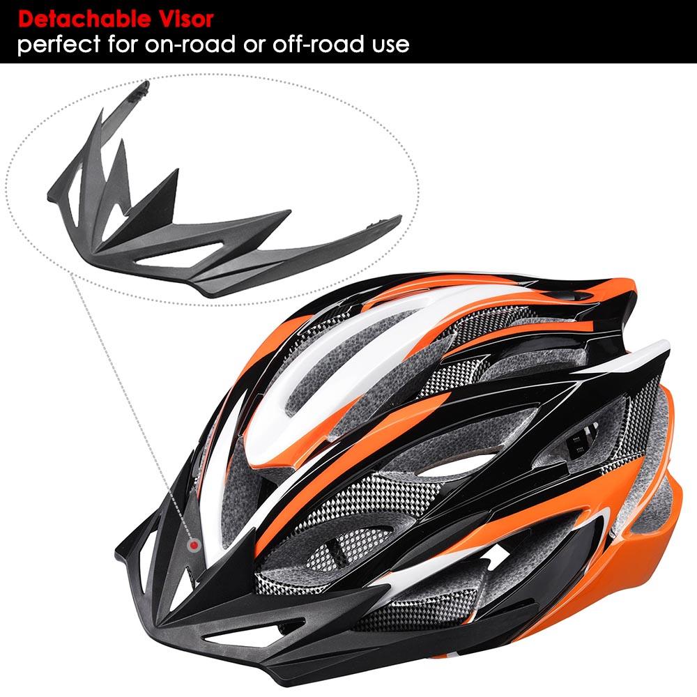 Bicycle-Helmet-Bike-Cycling-Adult-Adjustable-Safety-Helmet-Visor-LED-Light-Sport thumbnail 32