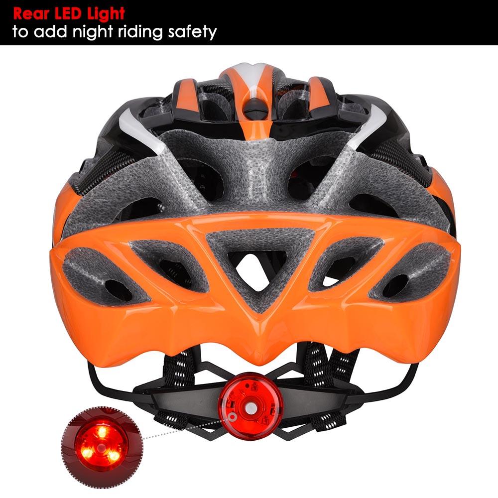 Bicycle-Helmet-Bike-Cycling-Adult-Adjustable-Safety-Helmet-Visor-LED-Light-Sport thumbnail 33