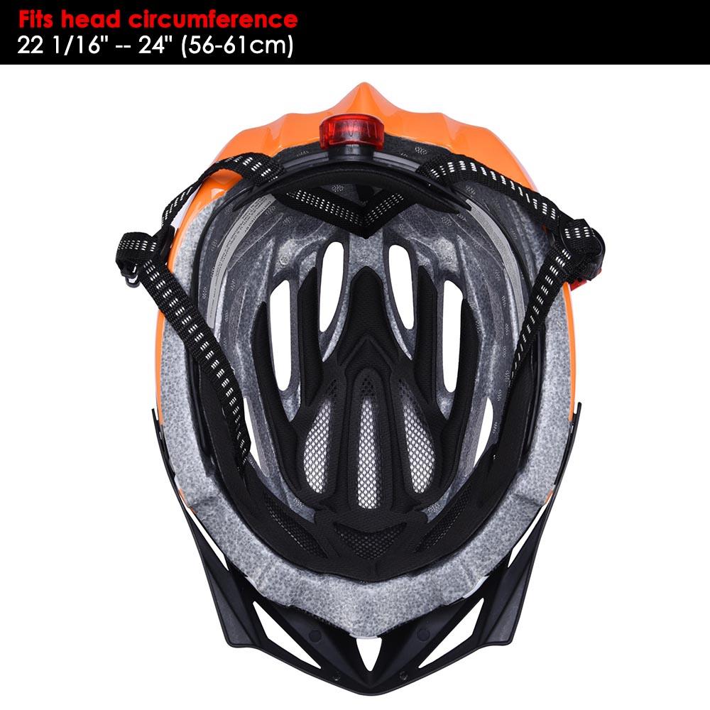 Bicycle-Helmet-Bike-Cycling-Adult-Adjustable-Safety-Helmet-Visor-LED-Light-Sport thumbnail 35
