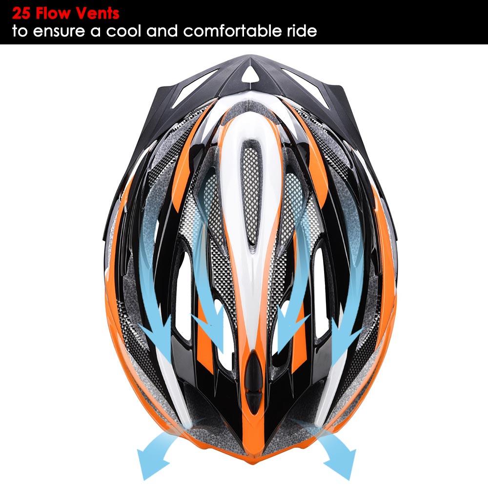 Bicycle-Helmet-Bike-Cycling-Adult-Adjustable-Safety-Helmet-Visor-LED-Light-Sport thumbnail 36