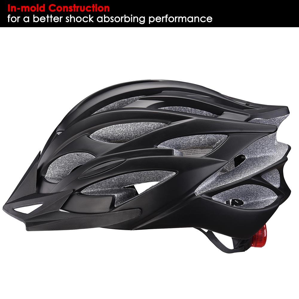 Bicycle-Helmet-Bike-Cycling-Adult-Adjustable-Safety-Helmet-Visor-LED-Light-Sport thumbnail 58
