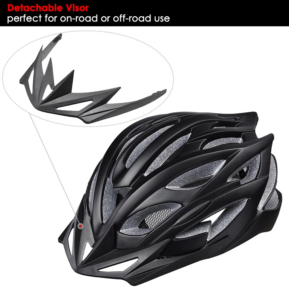 Bicycle-Helmet-Bike-Cycling-Adult-Adjustable-Safety-Helmet-Visor-LED-Light-Sport thumbnail 59