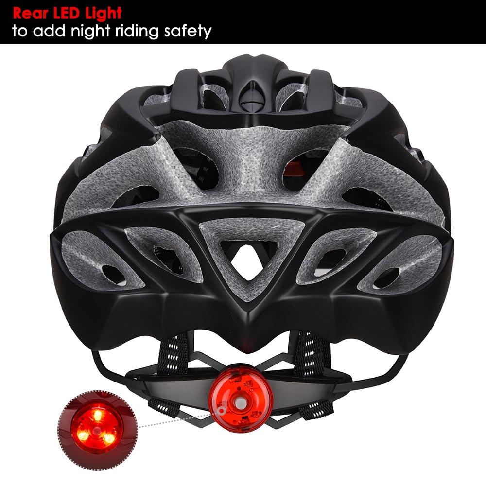 Bicycle-Helmet-Bike-Cycling-Adult-Adjustable-Safety-Helmet-Visor-LED-Light-Sport thumbnail 60