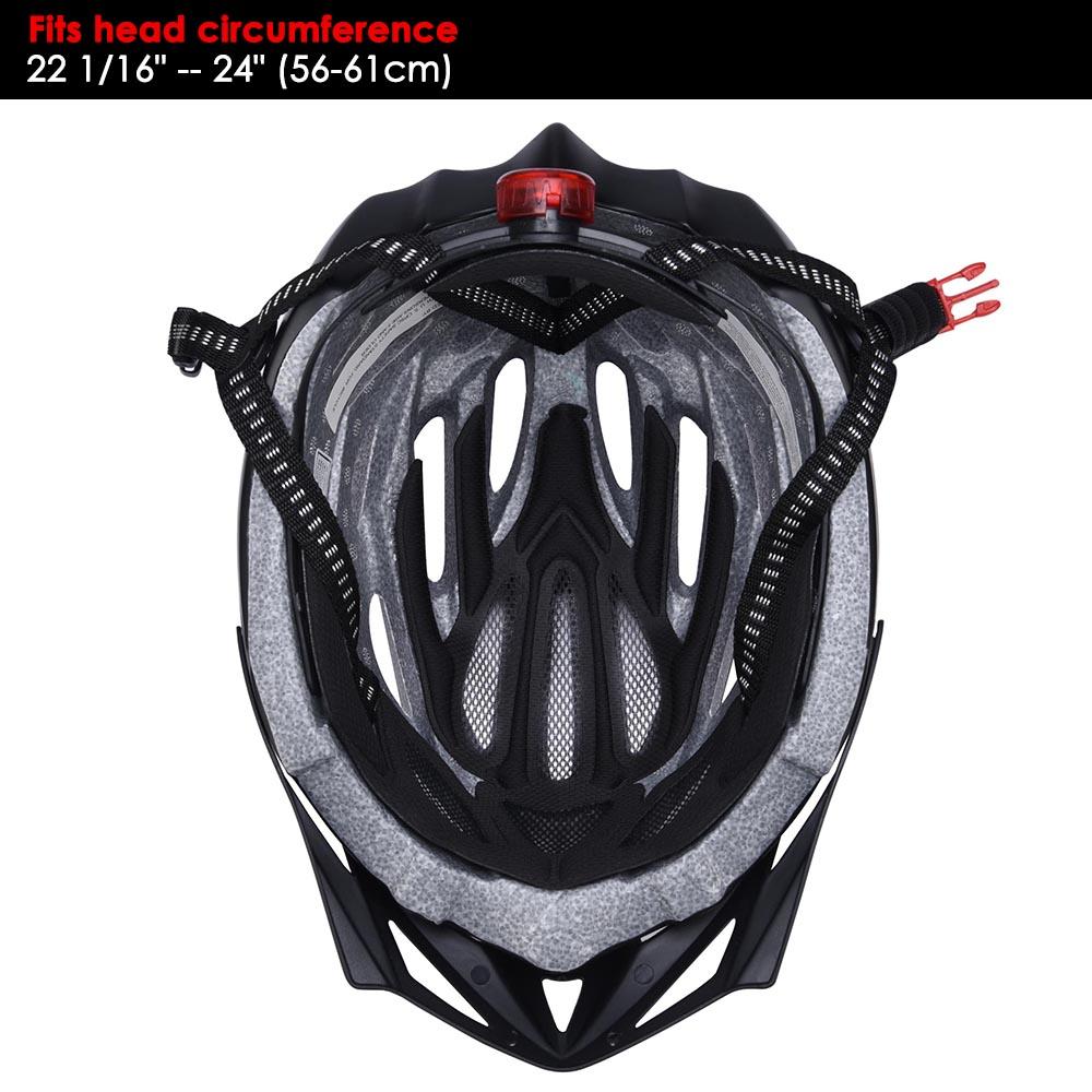 Bicycle-Helmet-Bike-Cycling-Adult-Adjustable-Safety-Helmet-Visor-LED-Light-Sport thumbnail 62