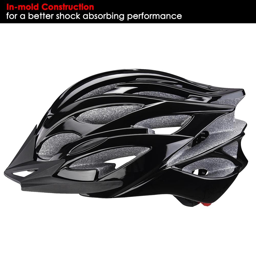 Bicycle-Helmet-Bike-Cycling-Adult-Adjustable-Safety-Helmet-Visor-LED-Light-Sport thumbnail 4