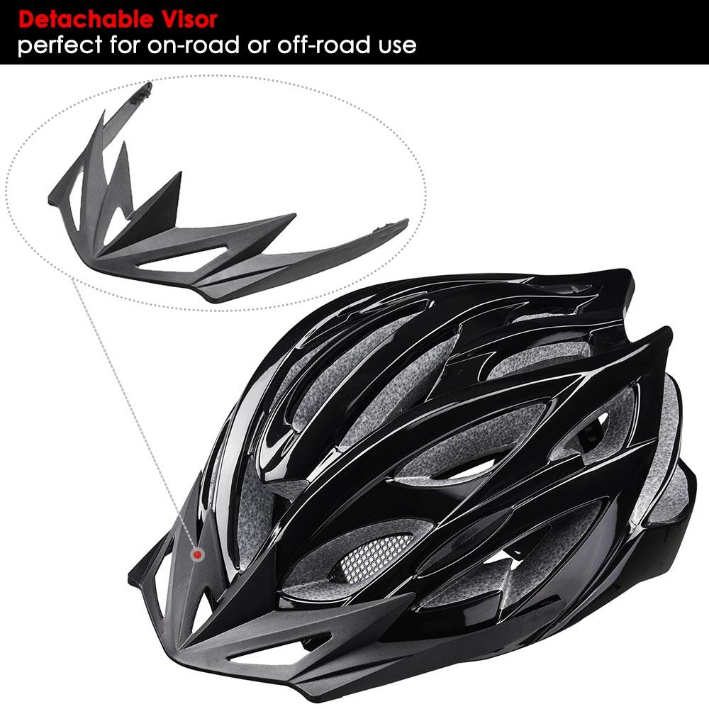 Bicycle-Helmet-Bike-Cycling-Adult-Adjustable-Safety-Helmet-Visor-LED-Light-Sport thumbnail 5