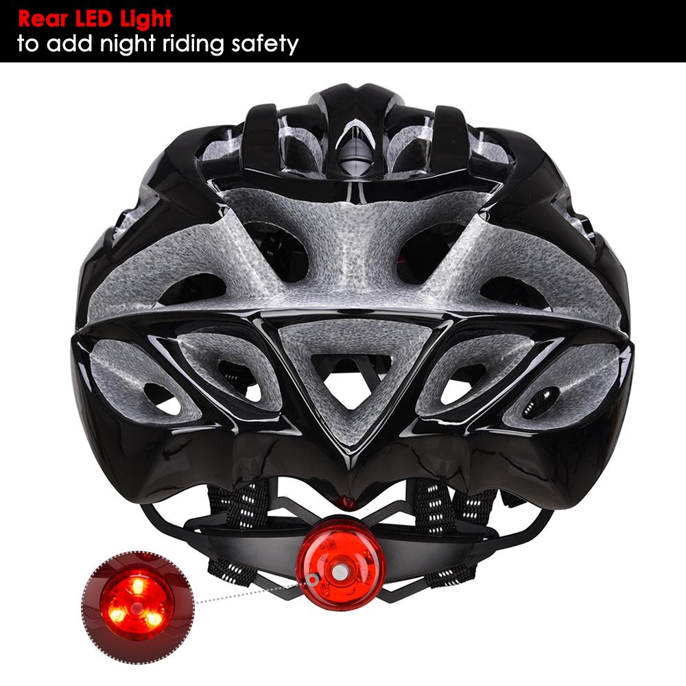 Bicycle-Helmet-Bike-Cycling-Adult-Adjustable-Safety-Helmet-Visor-LED-Light-Sport thumbnail 6