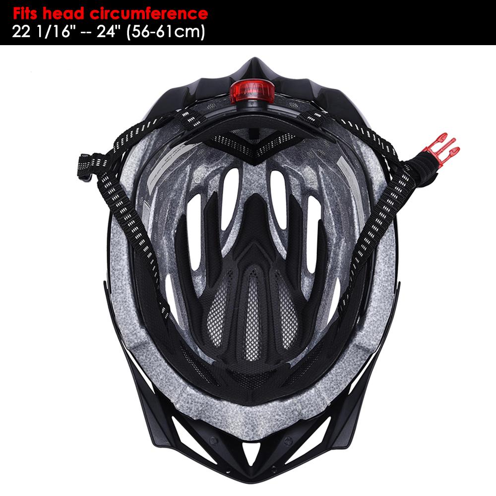 Bicycle-Helmet-Bike-Cycling-Adult-Adjustable-Safety-Helmet-Visor-LED-Light-Sport thumbnail 8