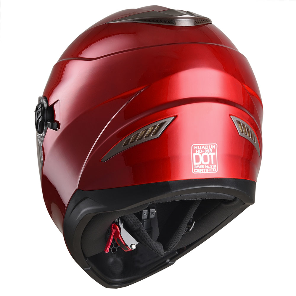 Safety-DOT-Motorcycle-Full-Face-Helmet-Dual-Visor-Sun-Shield-Racing-Sports-S-XL