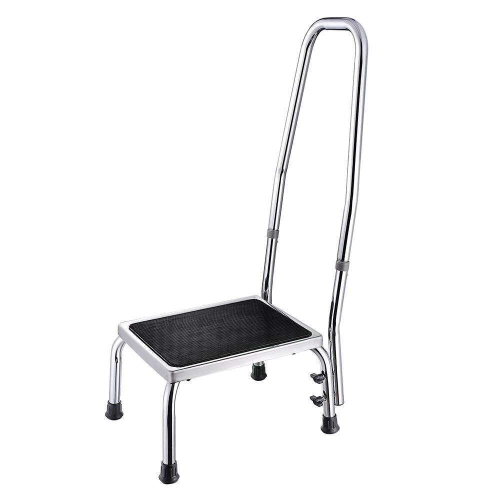 Pleasing Details About Drive Bariatric Heavy Duty Foot Stool W Handrail Non Skid Rubber Platform Creativecarmelina Interior Chair Design Creativecarmelinacom