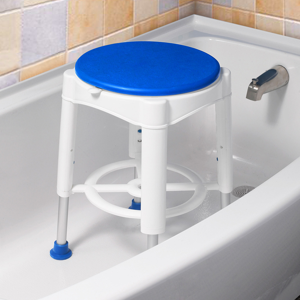 Delicieux Details About Adjustable Medical Bath Stool Bathroom Shower Swivel Chair  Safety Support 450lbs