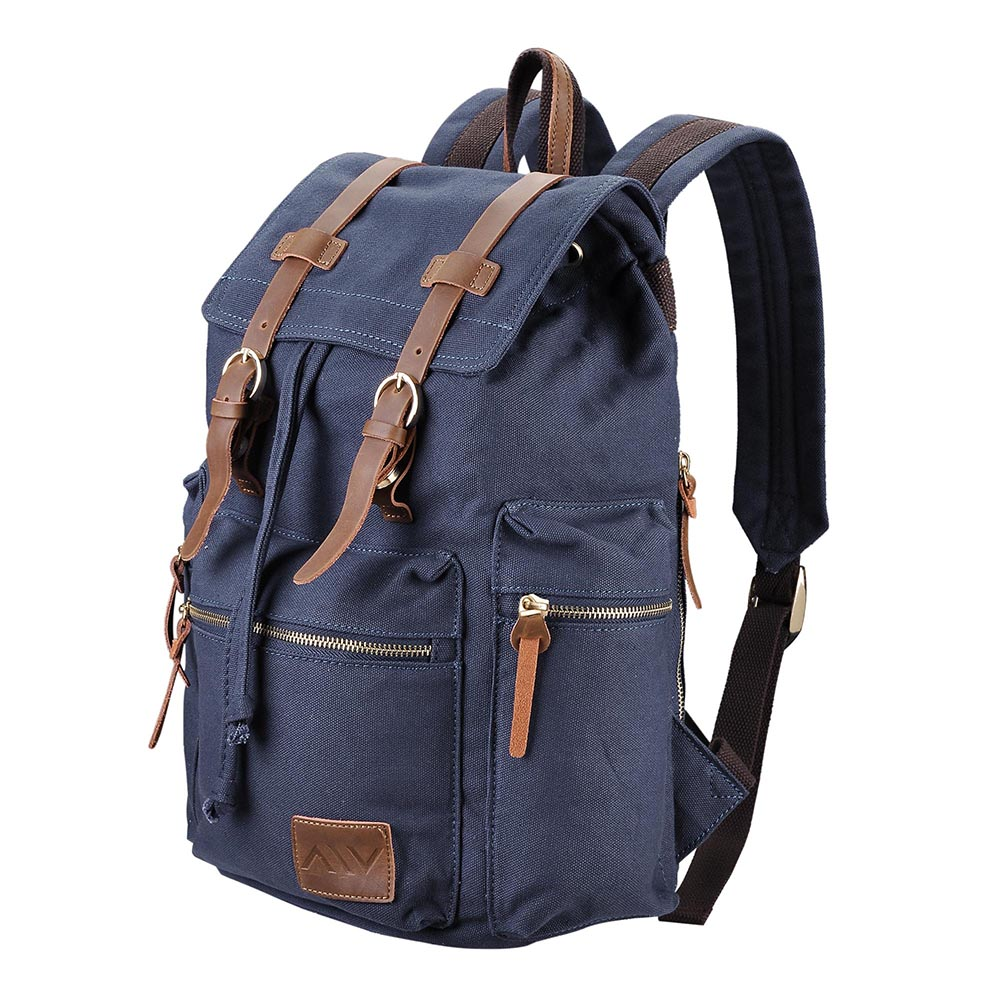 Travel-Canvas-Sport-Backpack-Rucksack-School-Satchel-Laptop-Camping-Hiking-Bag thumbnail 17