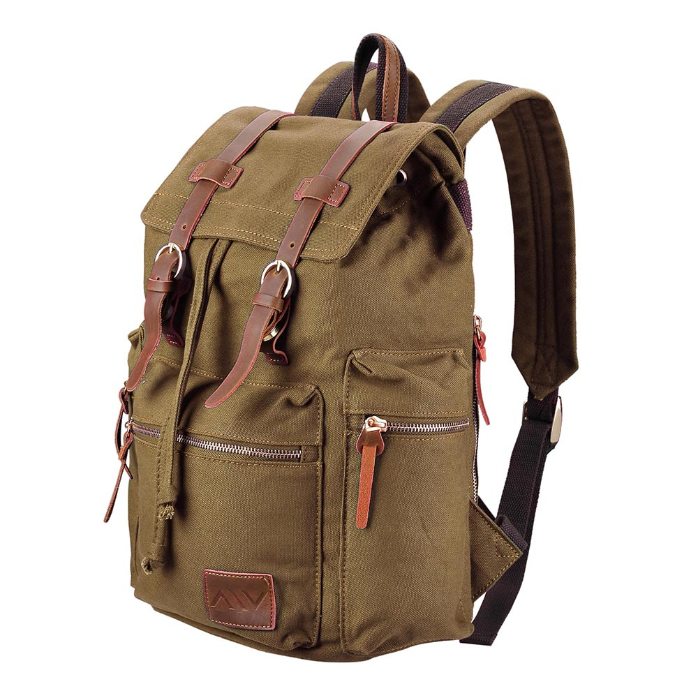 Travel-Canvas-Sport-Backpack-Rucksack-School-Satchel-Laptop-Camping-Hiking-Bag thumbnail 10