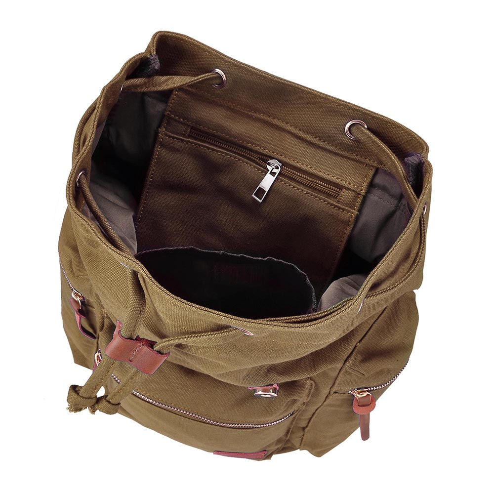 Travel-Canvas-Sport-Backpack-Rucksack-School-Satchel-Laptop-Camping-Hiking-Bag thumbnail 12