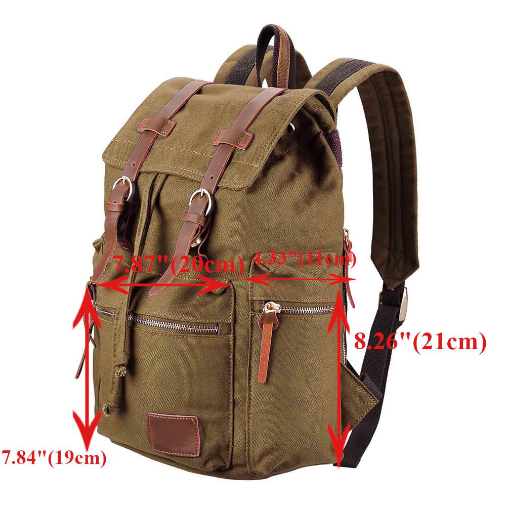 Canvas Backpack Travel Camping Sport Rucksack School Satchel Laptop Hiking Bag