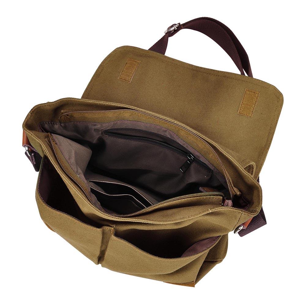 14-034-Men-039-s-Vintage-Canvas-Schoolbag-School-Satchel-Shoulder-Messenger-Laptop-Bag