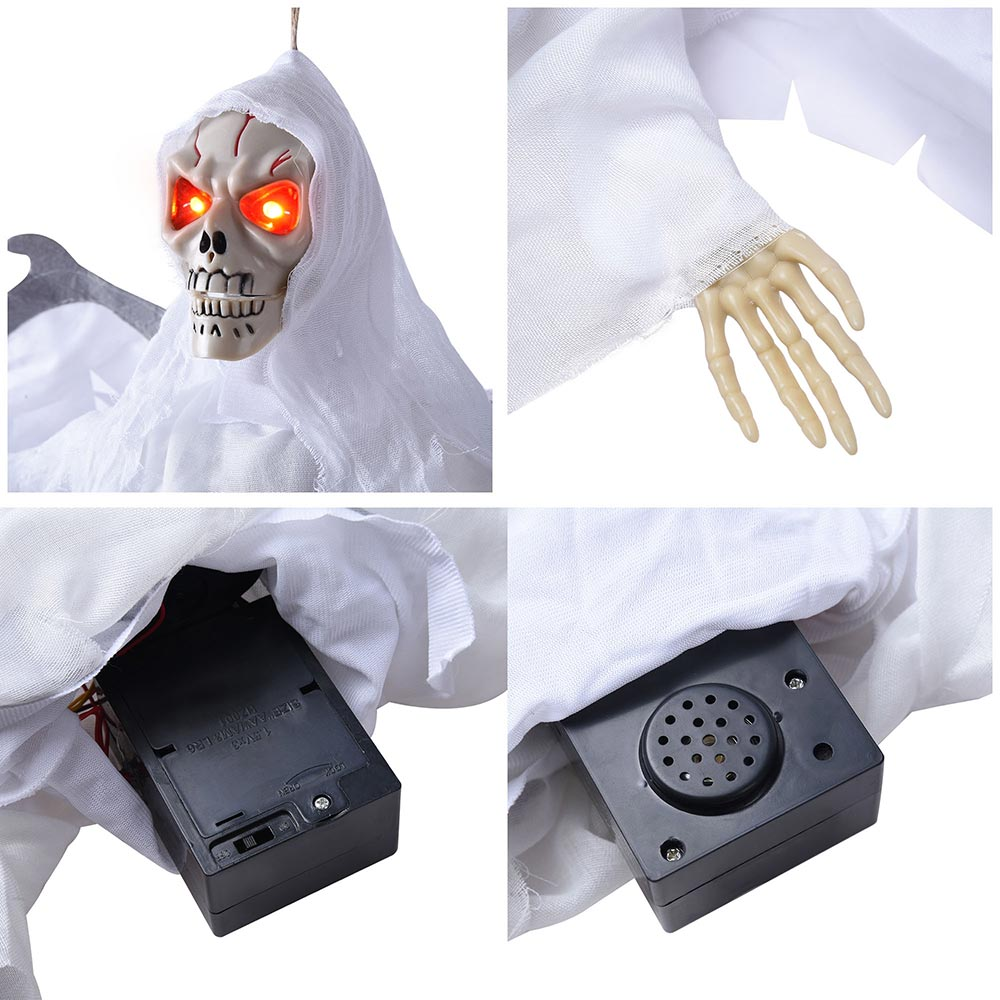 Halloween-Horror-Haunted-House-Decoration-Skull-Prop-Grovelling-Zombie-Ghost thumbnail 20